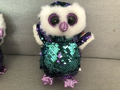 """New Ty Beanie Boos 6"""" Sparkle The Special Owl Plush Stuffed Toy Gift"""