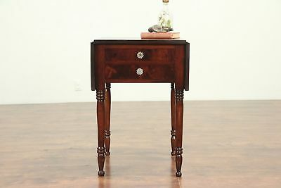Pembroke Antique 1850 Dropleaf Lamp Table or Nightstand #29204
