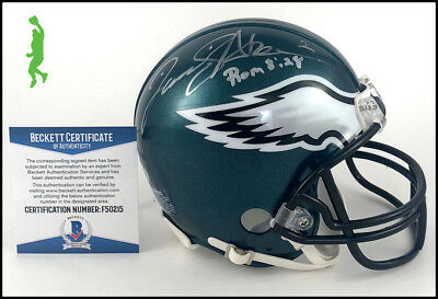David Akers Autographed Sigend Philadelphia Eagles Mini Helmet Beckett Coa