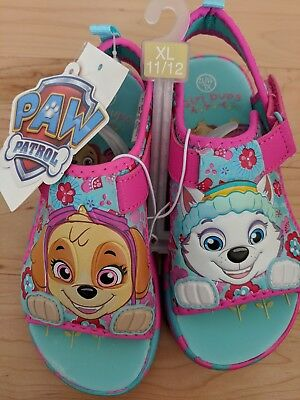 bf79e43745a4 NEW Nickelodeon Paw Patrol Toddler Girls XL 11 12 Blue   Pink Sport Sandals  NWT