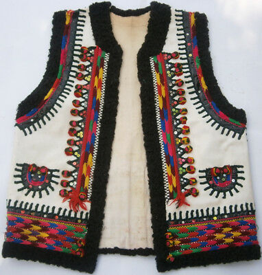 WESTERN UKRAINE Keptar VEST Jacket HUTSUL Style UKRAINIAN Folk ART Cloth EUROPE