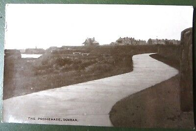 Vintage Postcard PPC, The Promenade, Dunbar, East Lothian, Real Photo