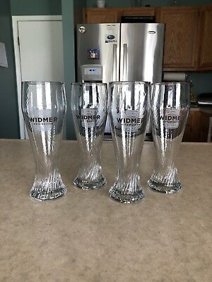 Set of 4 Widmer Brothers Brewing Hefeweizen Pilsner Beer Glasses 16 oz