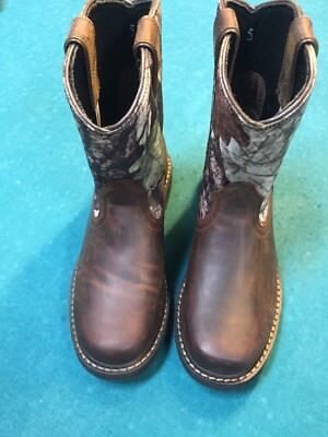 7ad945cba6b ARIAT SIERRA 10006747 Camo Leather Cowboy Western Boots Men's Size 5