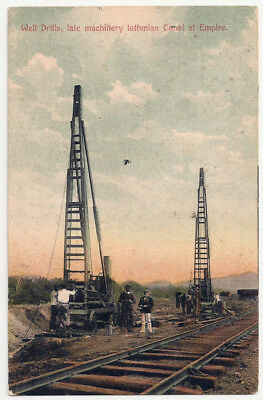 Panama Postcard Isthmian Canal of Empire Well Drills Late Machinery Antique