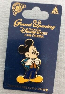 Disney Pin Shanghi Resort Grand Opening Mickey Mouse Limited Release