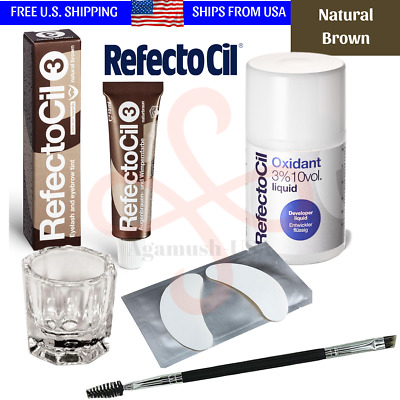 Refectocil NATURAL BROWN Tint Eyelash Eyebrow Professional Tinting Kit Hair Dye