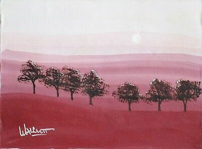 Moon Over Trees (Walcutt oil painting)