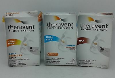 Theravent Snore Therapy 2-Trial Pack Nasal Strips, 1 - Max Nasal Strips