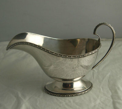 Stylish Solid Silver Sauce Boat - Walker & Hall Sheffield 1937