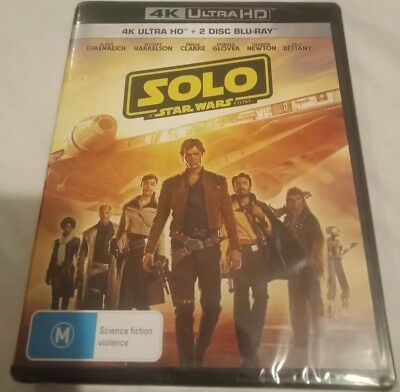Solo : A Star Wars Story (4K + Blu-Ray, 2018) Brand New & Sealed Rated M 🍿