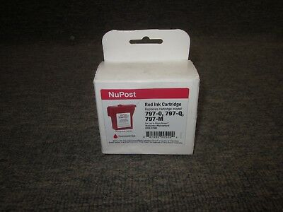 797-M 797-0 New Pitney Bowes Fluorescent Red Ink Cartridge for MailStation 2