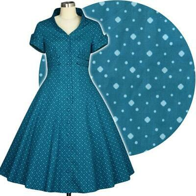 Chic Star Louise 50s Polka Dot House Dress Retro Prom Vintage Pin Up Rockabilly