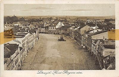 Litomysl Czech Republic Horni Riegrovo Nam Elevated View Postcard
