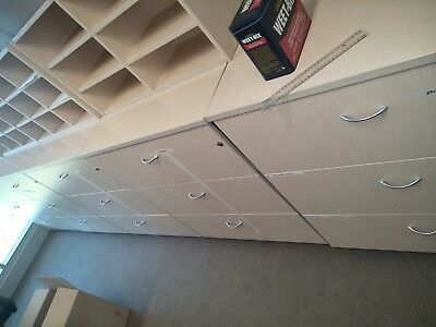 Lockable lateral filing cabinets/storage drawers - 3 drawers tall