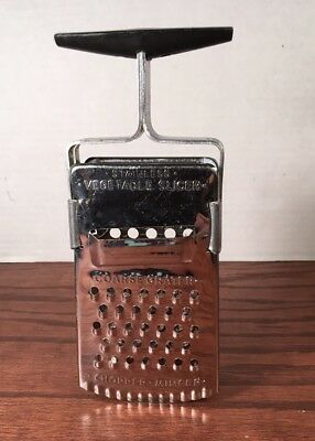 Vintage  Metal Kitchen Utensil Tool Grater Mincer Chopper Slicer Stand Up