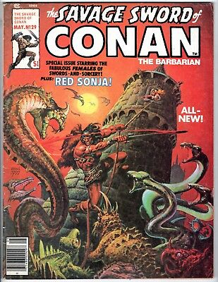 Savage Sword Conan #29, Very Fine Condition