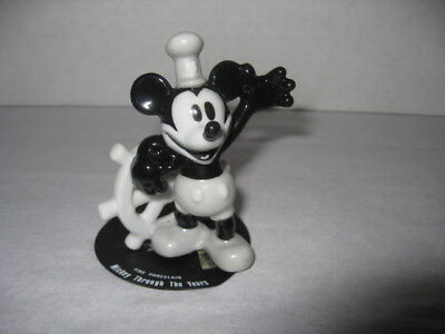 "2.5"" Mickey Through the Years Porcelain Figurine - Steamboat Willie"