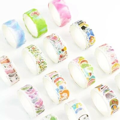 100PCS Paper Washi Masking Tape Album Diary Decorative Scrapbook Stickers Craft