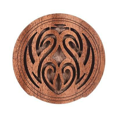 Acoustic Guitar Feedback Buster Fire Soundhole Cover Sound Buffer Wood O2S2