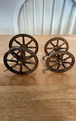 Set of Four Carriage.  Horse Clock Wheels. With Mounting screws  Parts