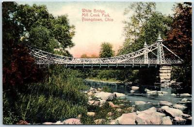"""Youngstown, Ohio Postcard """"White Bridge, MILL CREEK PARK"""" Made in Germany c1910s"""