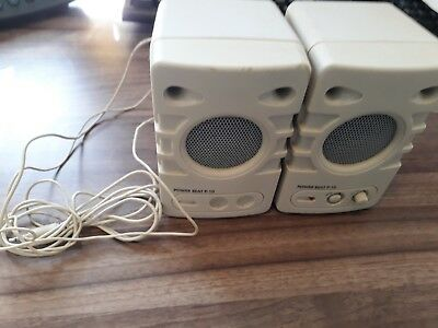 Vintage PC desktop speakers - tested working