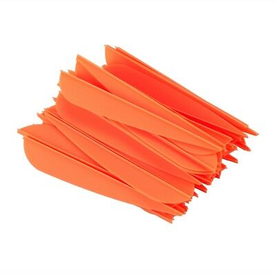 Arrows Vanes 4 Inch Plastic Feather Fletching for DIY Archery Arrows 50 Pac S3V2