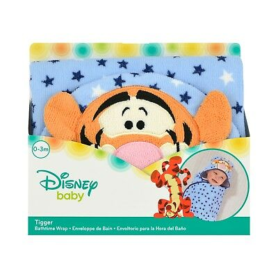 NEW WITH TAGS - Disney Baby Tigger Embroidered Hooded Bath Swaddle New