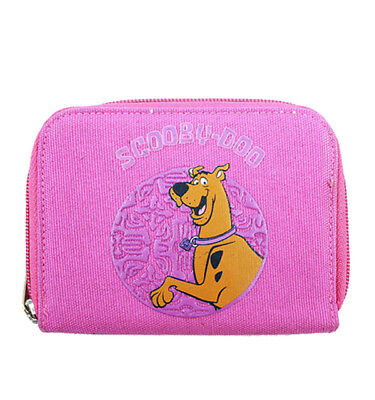 Warner Bros Scooby Doo Girls Kids Pink Zip Wallet/Card & Photo Holder
