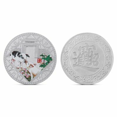 Lucky Pig Commemorative Coin Collection Plated New Year Bless Wish Souvenir Gift