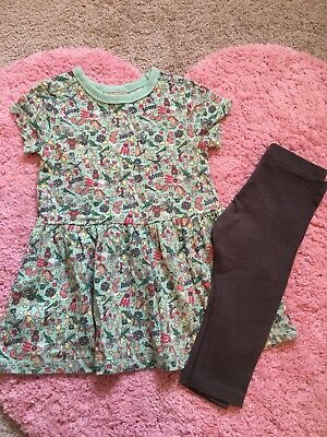 NEXT Girls Tunic Dress With Leggings 12-18 Months