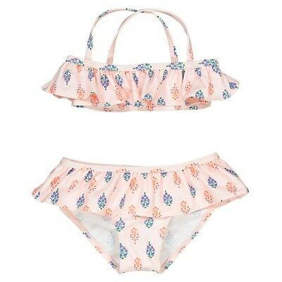 LA REDOUTE BABY GIRLS PRINTED BIKINI WITH RUFFLES AGE 12 MONTHS NEW (ref 523)