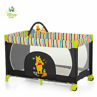 New Hauck Disney Pooh Tidy Time Dream N Play Mobile Portable Travel Cot Playpen