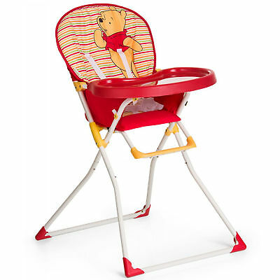 New Hauck Disney Pooh Spring Red Macbaby Folding Highchair Compact Feeding Chair