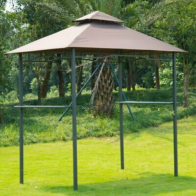 Outsunny 8 Ft. W x 5 Ft. D Metal Grill Gazebo