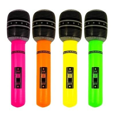 4 x Inflatable Microphone Hen Party Girls Night Fancy Dress Accessories Music