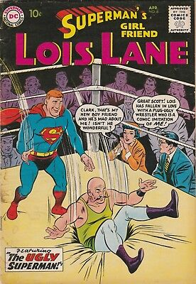 Superman's Girlfriend Lois Lane #8 1959  Dc Comics  Silver Age  Nice & Solid Gd+