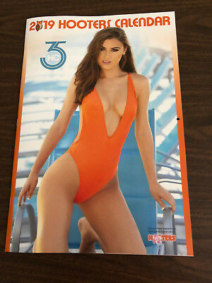 Hooters Calendar 2019 S. Florida Girls Poster Coupons $75 Worth ?signatures?