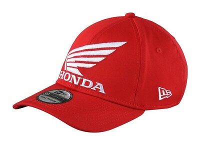 New Adult Troy Lee Designs TLD Hat Honda Wing Cap Red Motocross S/M L/XL