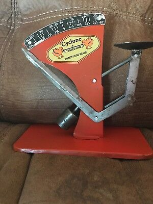 """Cyclone"" Rustic Vintage Style Tin Poultry Egg Scale New"
