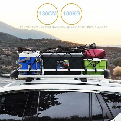 Large Black Aluminium Roof Rack Basket Tray Luggage Cargo Carrier with Bars UK
