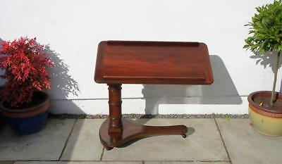 Victorian  Mahogany adjustable lectern or reading/bed table