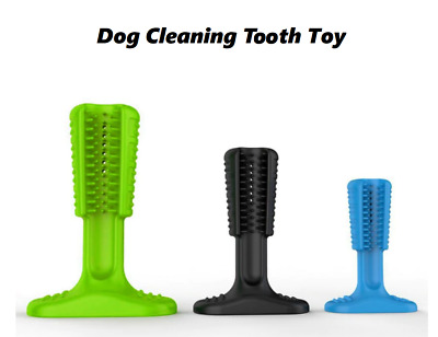 Dog Cleaning Tooth Toy Brushes Teeth Chew Pet Dogs Rubber Bone Shape