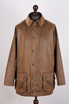 Barbour Beaufort Natural Weathered Garment Waterproof Jacket Size L