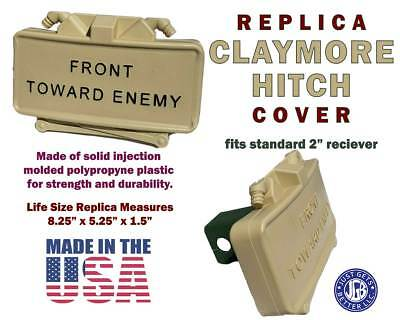 Tan Limited Edition CLAYMORE HITCH COVER *  Tan #1 Black Letter Claymore Mine