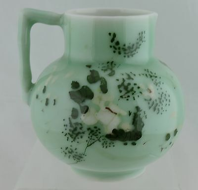 Antique Vintage Chinese Japanese Celadon Jug/pitcher/creamer Flowers Showa Seto