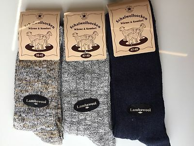 3 Pairs Men's Thick Chunky Wool Work Hiking Boot Socks Size UK 6-11 VNBFMD