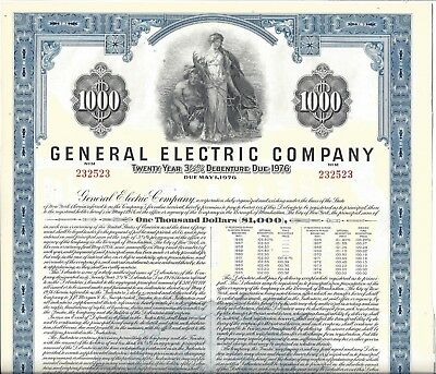 General Electric Company......1956 Debenture Certificate