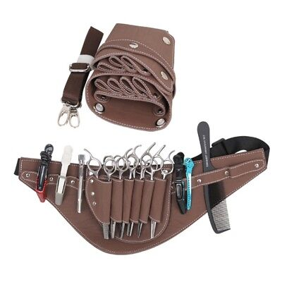 Barber Waist Bag Hairdressing Shears Holder Pouch Faux Leather Scissor Package